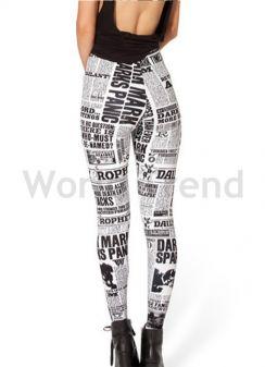 cbee9da28f Mintás Leggings - vastag leggings, fekete leggings, virág mintás ...